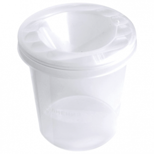 "Стакан-непроливайка СТАММ ""Cristal"", белый, прозрачный, СН100"