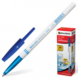 Ручка шариковая BRAUBERG офисная, толщ.письма 1мм, 140662, синяя