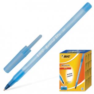 """Ручка шариковая BIC """"Round Stic"""", корпус голубой, толщ.письма 0,4мм, 921403, синяя"""