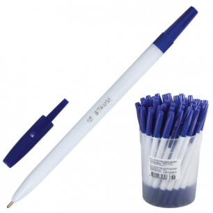 Ручка шариковая СТАММ 049, стандарт, РШ11, синяя