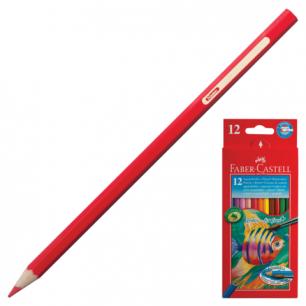 """Карандаши цветные акварельные FABER-CASTELL """"Colour Pencils"""", 12цв., с кисточ., картон.упак., 114413"""