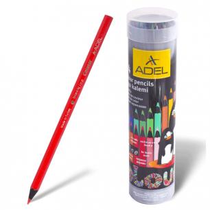 """Карандаши цветные ADEL """"Colour"""", 24цв, черное дерево, алюминиевый тубус, 211-2362-003"""