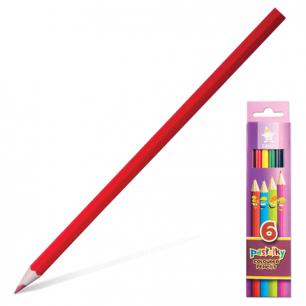 """Карандаши цветные KOH-I-NOOR """"Centi"""",  6цв, грифель 2,65мм, заточенные, карт. уп.с европодв, 2141/6"""