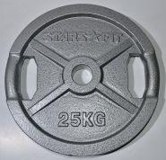 Диск олимпийский металлический с отверстиями для хвата, D 51, 25 кг WP006-25