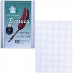 Бумага писчая в клетку А4, 55г/м, 100 л., ш/к 97928