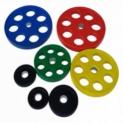 Диски PX-SPORT WP013 обрезиненные (цветные) Д-51мм
