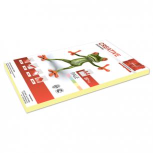 Бумага CREATIVE color (Креатив)  А4, 80г/м, 100 л. пастель желтая, БПpr-100ж, ш/к 41881