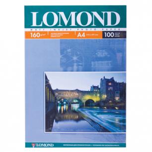 Фотобумага LOMOND д/струйной печати А4, 160г/м, 100л., односторонняя, матовая (0102005)