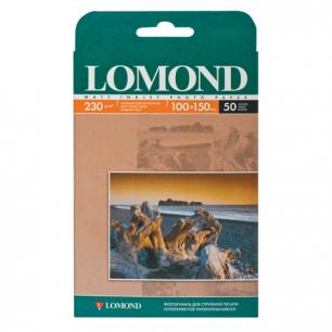 Фотобумага LOMOND д/струйной печати 10х15см, 230г/м, 50л., односторонняя, матовая (0102034)