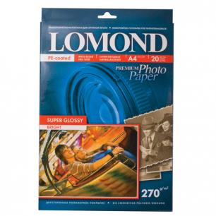 Фотобумага LOMOND Super Glossy д/струйной печати A4 270г/м2 20л.односторонняя глянцевая (1106100)