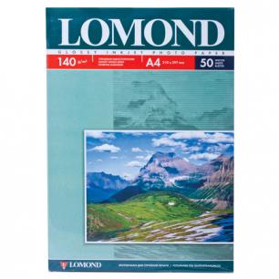 Фотобумага LOMOND д/струйной печати А4, 140г/м, 50л., односторонняя, глянцевая (0102054)