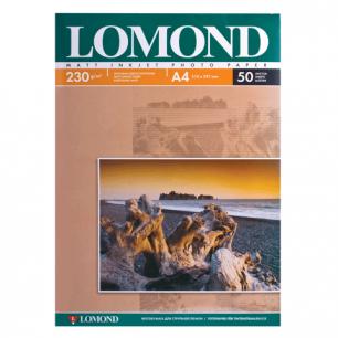 Фотобумага LOMOND д/струйной печати А4, 230г/м, 50л., односторонняя, матовая (0102016)