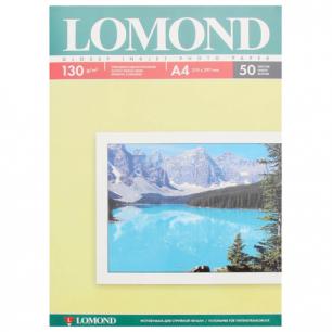 Фотобумага LOMOND д/струйной печати, A4, 130 г/м2, 50 л., односторонняя, глянцевая 0102017