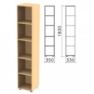 """Шкаф (стеллаж)  """"Канц"""" (ш350*г330*в1830 мм), 4 полки, цвет бук, КК32.10"""