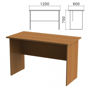 """Стол письменный """"Канц"""" (ш1200*г600*в750 мм), цвет орех, СК22.9"""