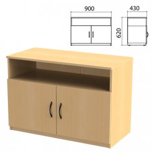 """Тумба для оргтехники """"Канц"""" (ш900*г430*в620 мм), 2 двери, цвет бук, ТК28.10"""