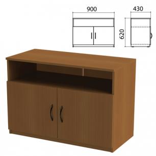 """Тумба для оргтехники """"Канц"""" (ш900*г430*в620 мм), 2 двери, цвет орех, ТК28.9"""