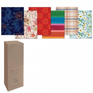 Бумага упаковочная подарочная, в рулонах, глянцевая, 2листа 0,7х1м, рисунок ассорти (мужской), шк5556