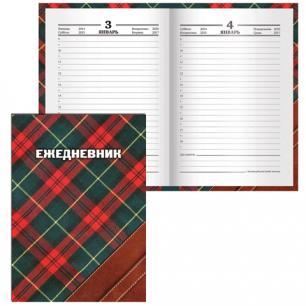 "Ежедневник BRAUBERG полудат. на 4 года А6+ 125*170мм, ""Шотландка"", 208л., лам. обложка, 121585"
