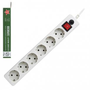 Сетевой фильтр ГАРНИЗОН ЕНW-6, 6 розеток, 1,8 м