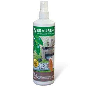 Чистящая жидкость-спрей BRAUBERG для пластика, 250 мл, 510118