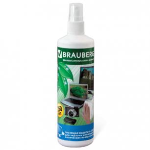 Чистящая жидкость-спрей BRAUBERG для экранов мониторов и оптич. поверх. 250 мл, 510117