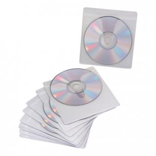 Конверты для CD/DVD BRAUBERG, КОМПЛЕКТ 10шт., на 1CD/DVD, самоклеящиеся, упак. с европодвесом, 510197