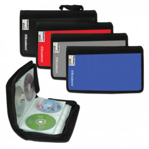 Портмоне для CD/DVD BRAUBERG на 96 дисков, обложка пластик, ассорти, 510091