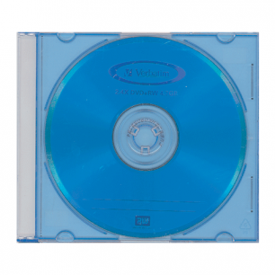 Диск DVD+RW (плюс)  VERBATIM 4,7Gb 4x Color Slim Case 43297 (ш/к-2975)