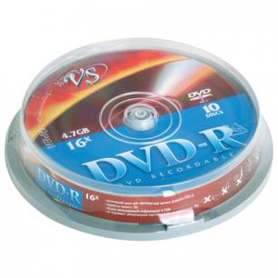 Диски DVD-R VS 4,7Gb 10шт Cake Box VSCDRCB1001 (ш/к - 20410 )