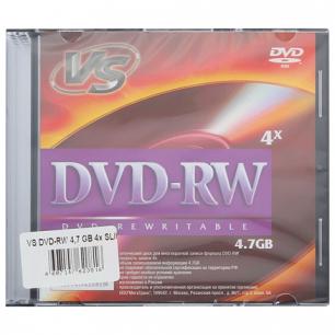Диски DVD-RW VS 4,7Gb 4x Slim Case КОМПЛЕКТ 5шт VSDVDRB5001 (ш/к - 20816)