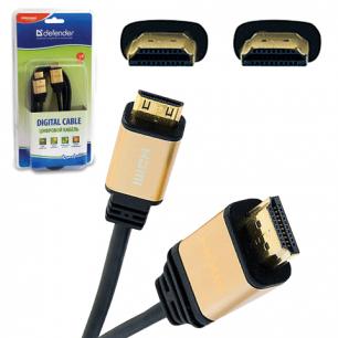 Кабель HDMI А-А DEFENDER HDMI-10PRO, 3м, для высокоскоростной передачи цифр. аудио-видео, 87434