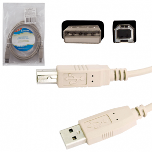 Кабель USB 2.0 AM-BM DEFENDER USB04-06, 1.8м, пакет 83763