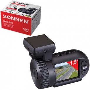 Видеорегистратор автомоб. SONNEN DVR-570, FullHD, 130°, экран 1,5'', GPS, G-сенсор, microSDHC, HDMI, 352868