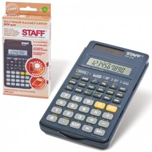 Калькулятор STAFF инженерный STF-310, 10+2 разрядов, двойное питание, 142х78мм