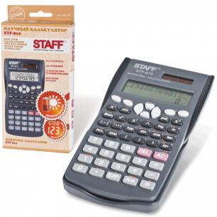 Калькулятор STAFF инженерный STF-810, 10+2 разрядов, двойное питание, 181х85мм