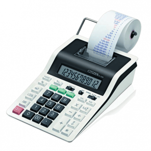 Калькулятор CITIZEN печатающий CX-32N, 12 разрядов, 226*147мм (бум.ролик 110364, картридж 250197)