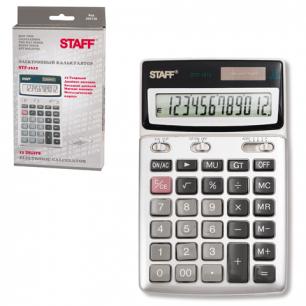 Калькулятор STAFF настольный металлический STF-1612, 12 разрядов, двойное питание, 175х107мм
