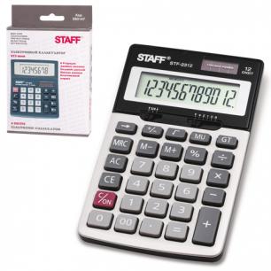 Калькулятор STAFF настольный металлический STF-2312, 12 разрядов, двойное питание, 175х107мм