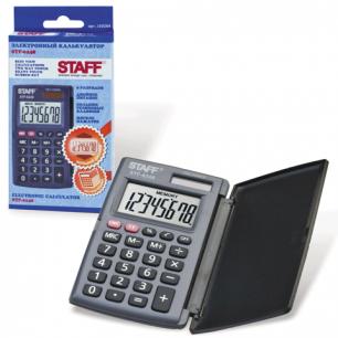 Калькулятор STAFF карманный STF-6248, 8 разрядов, двойное питание, 104х63мм
