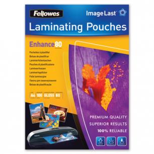 Пленки-заготовки д/ламинир-я FELLOWES, КОМПЛЕКТ 100шт, для формата А4, 80 мкм, FS-53061