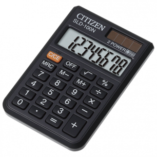 Калькулятор CITIZEN карманный SLD-100N, 8 разрядов, двойное питание, 90х60мм