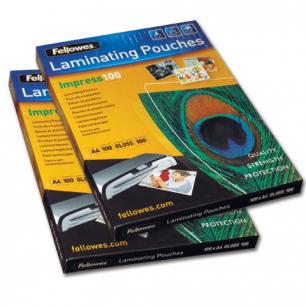 Пленки-заготовки д/ламинир-я FELLOWES, КОМПЛЕКТ 100шт, для формата А4, 100 мкм, FS-53511