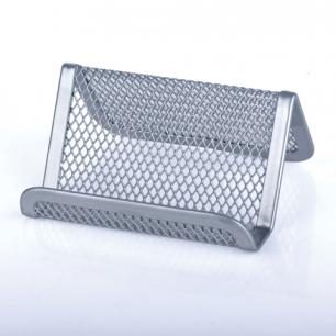 """Подставка для визиток настольная BRAUBERG """"Germanium"""", металлическая, 43*95*71мм, серебр, 231943"""