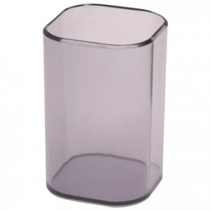 """Подставка-органайзер СТАММ """"Визит"""" (стакан для ручек), 70*70*100 мм, тонированная серая, СН35"""