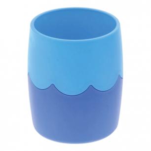 Подставка-органайзер СТАММ (стакан для ручек), сине-голубая непрозрачная, СН505