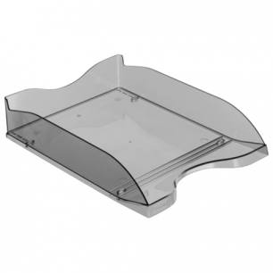 """Лоток горизонтальный для бумаг СТАММ """"Люкс"""", тонированный серый, ЛТ62"""