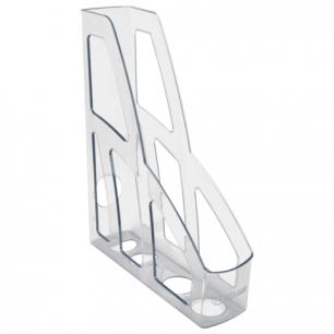 """Лоток вертикальный для бумаг СТАММ """"Лидер"""", ширина 75 мм, прозрачный, ЛТ130"""