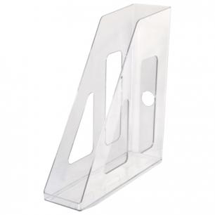 """Лоток вертикальный для бумаг СТАММ """"Актив"""", ширина 70 мм, прозрачный, ЛТ512"""