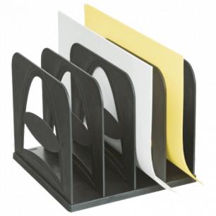 Лоток-сортер для бумаг СТАММ 4 отделения, сборный, черный, СО02